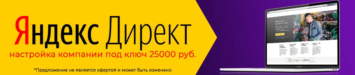 настройка яндекс директ компании под ключ 25000 колорит